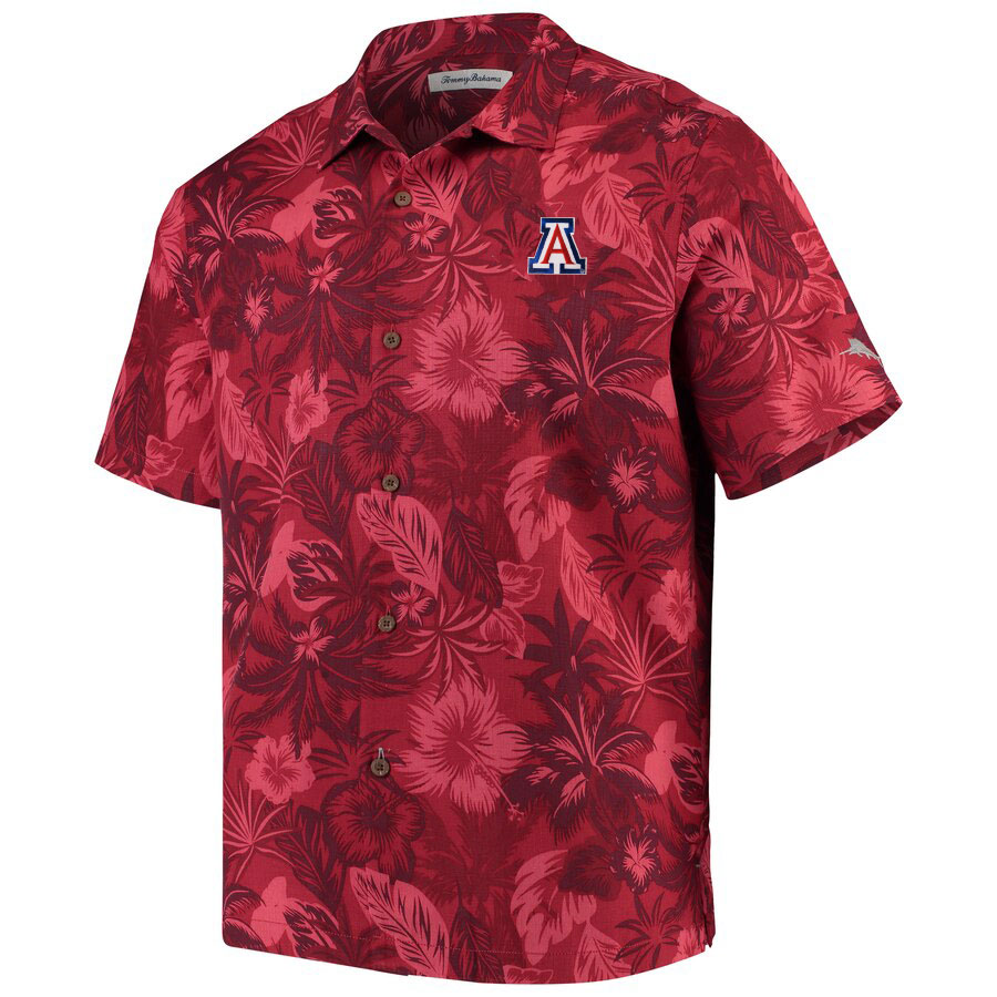 Image For Tommy Bahama: Arizona Fuego Floral Camp Shirt - Chili Pepper