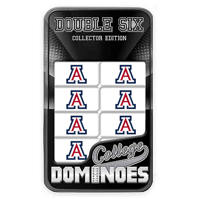 Image For College Dominoes: Arizona Wildcats Team Logo Dominoes