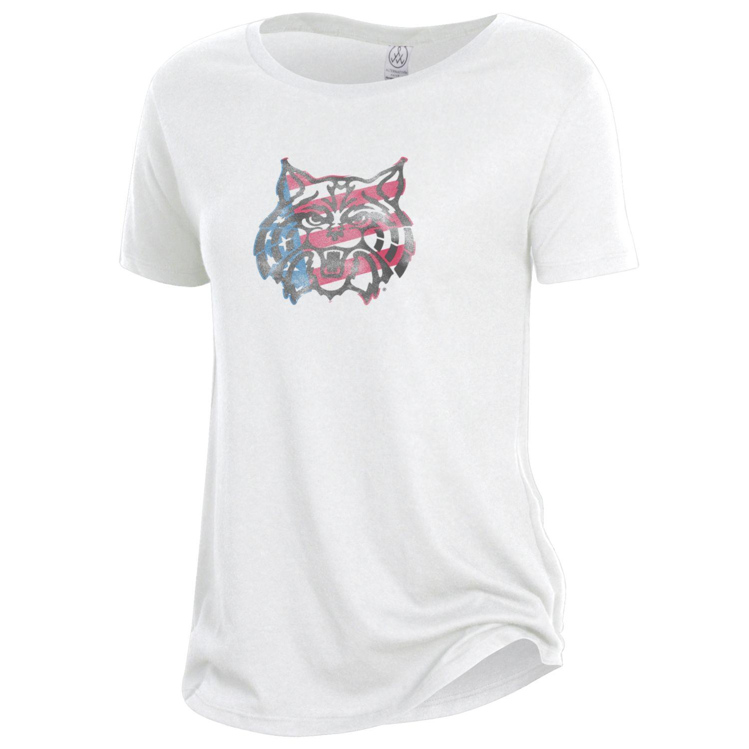 Image For Gear Alternative: Arizona Wildcat Red White Blue Face Tee