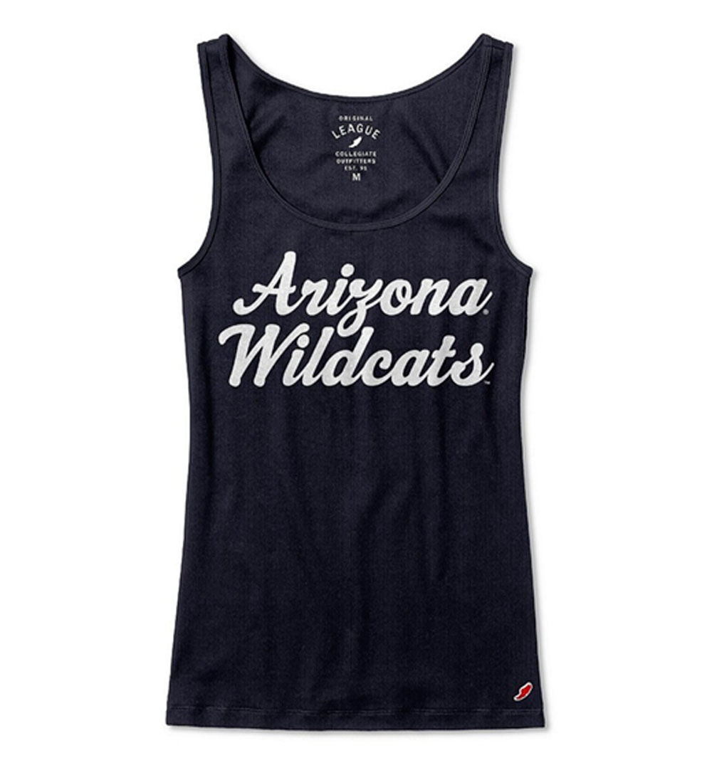 Image For League 91: Arizona Wildcats Rib Classic Womens Tank Navy