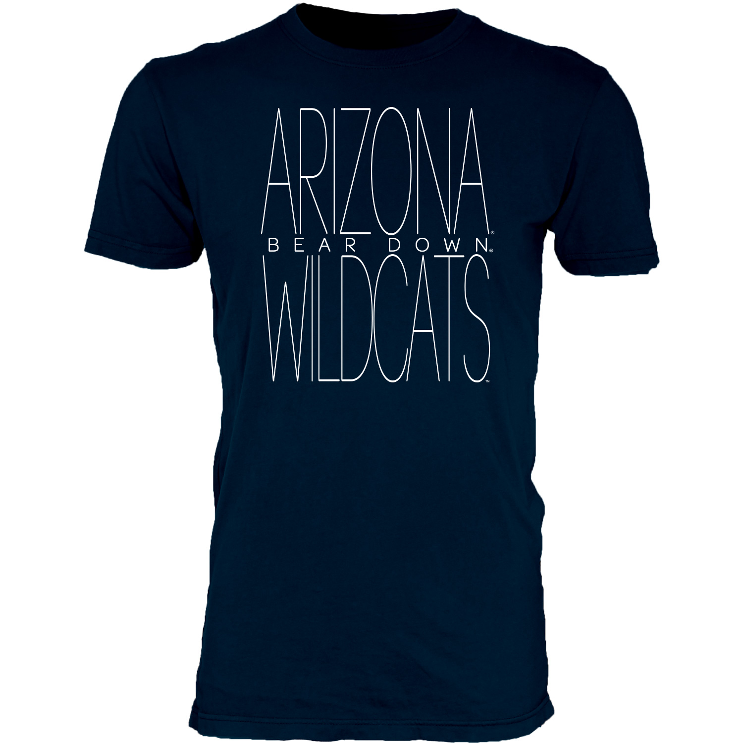 Image For Blue 84: Arizona Bear Down Wildcats Dyed Tee - Navy