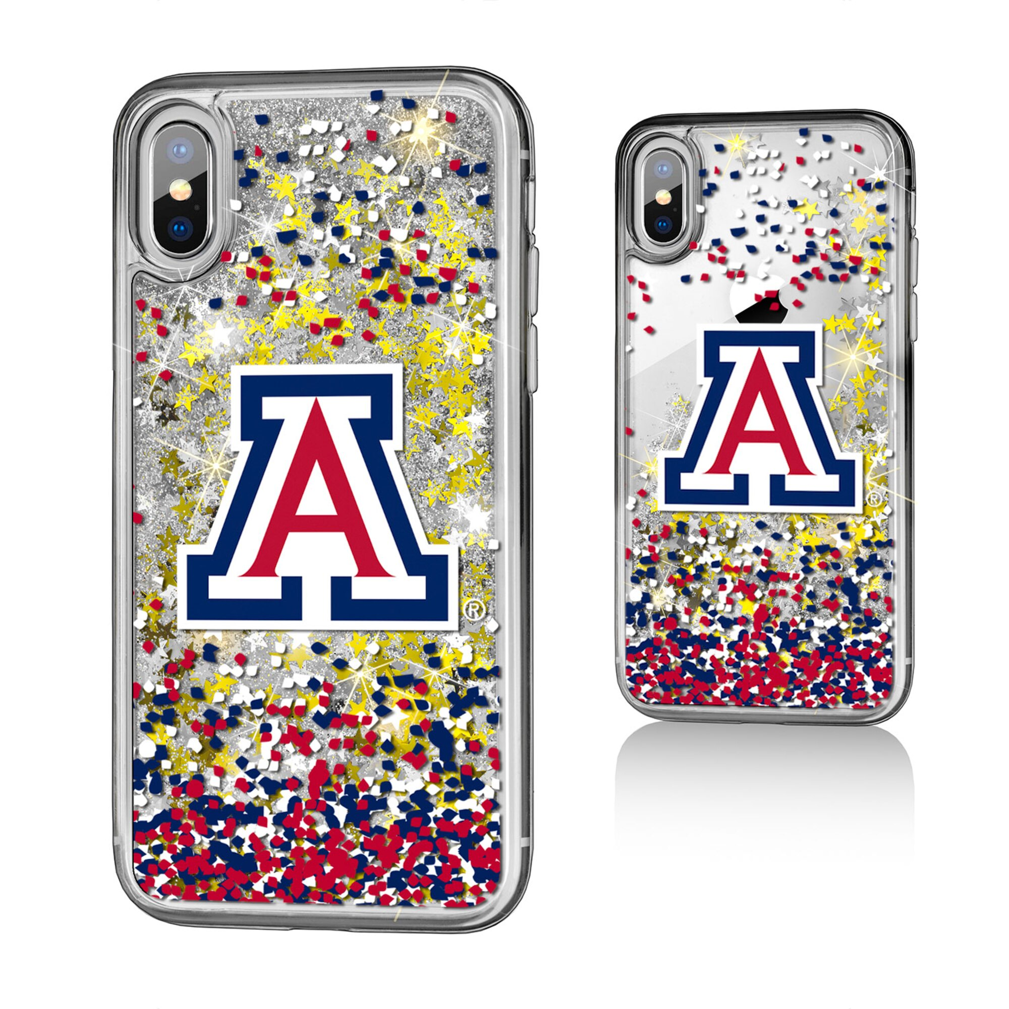 Image For Keyscaper: Arizona iPhone XR Gold Glitter Clear Case