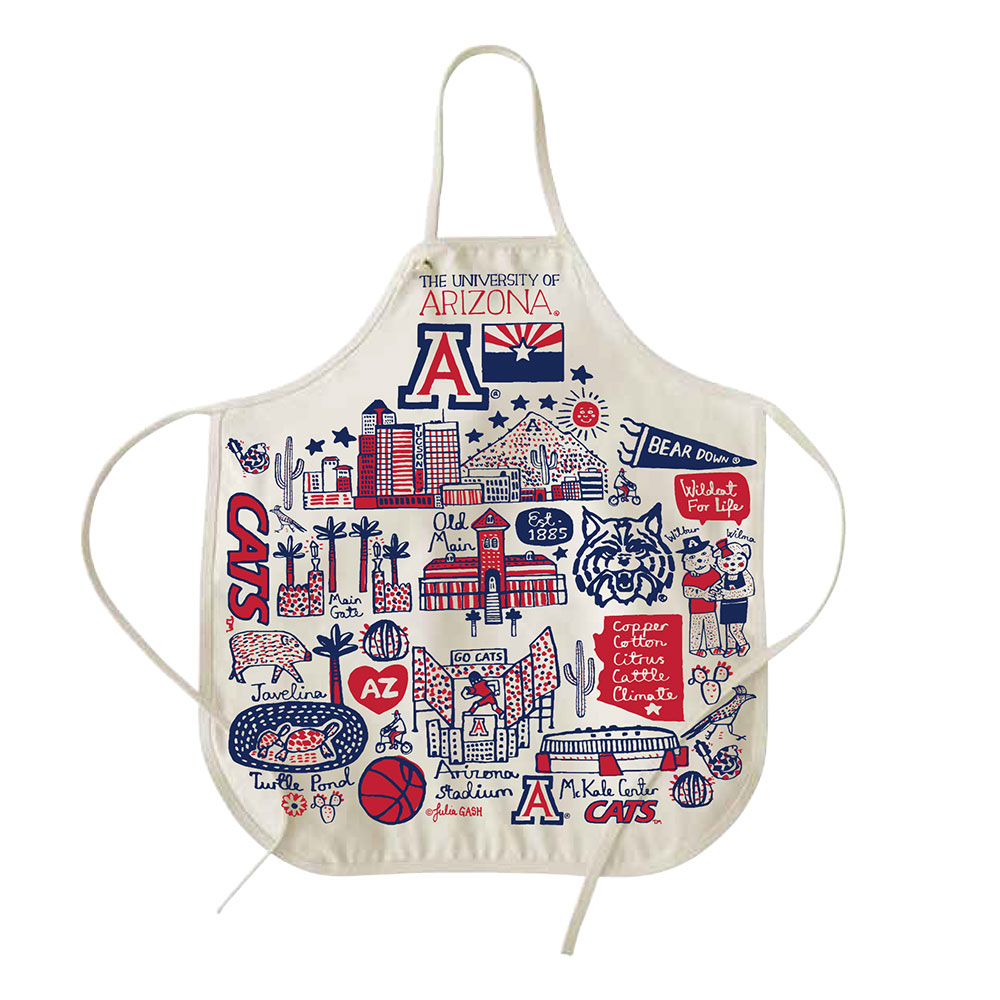 Image For Neil Varsity Line: Arizona Natural Canvas Apron Julia Gash