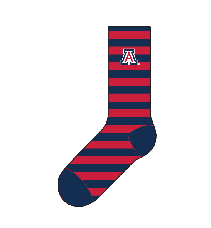 Image For Strideline: Arizona Navy Stripe Econ Knit Socks