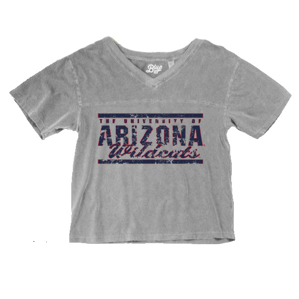 Image For Blue 84: Arizona Wildcats Frankie Dyed Football Tee