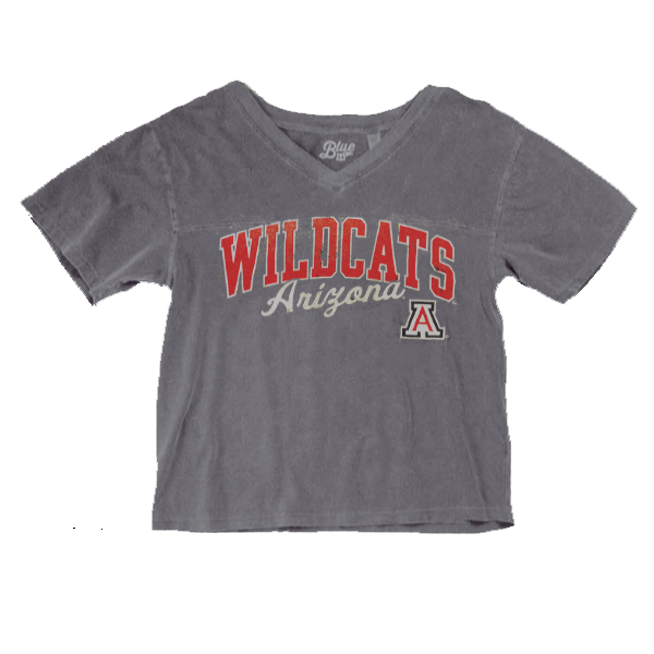 Image For Blue 84: Wildcats Arizona Frankie Dyed Football Tee