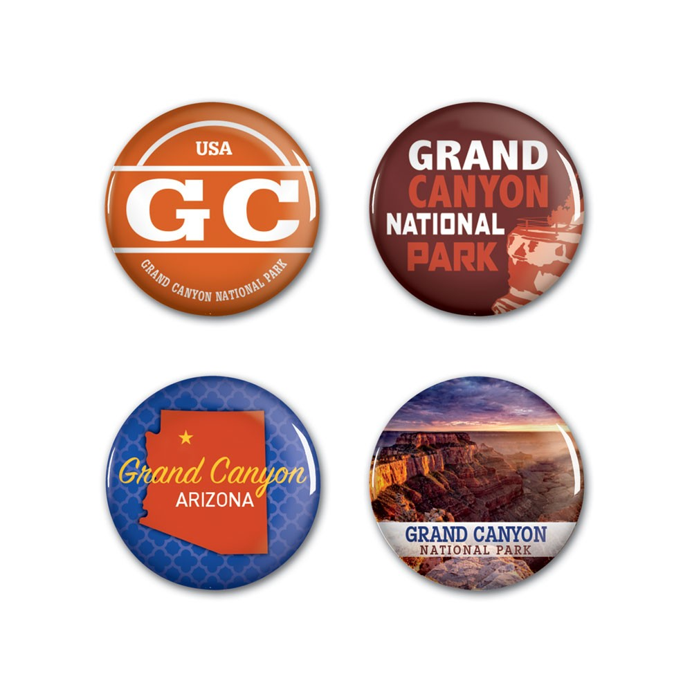 Image For Buttons: Arizona GRAND CANYON NATIONAL PARK By Wincraft