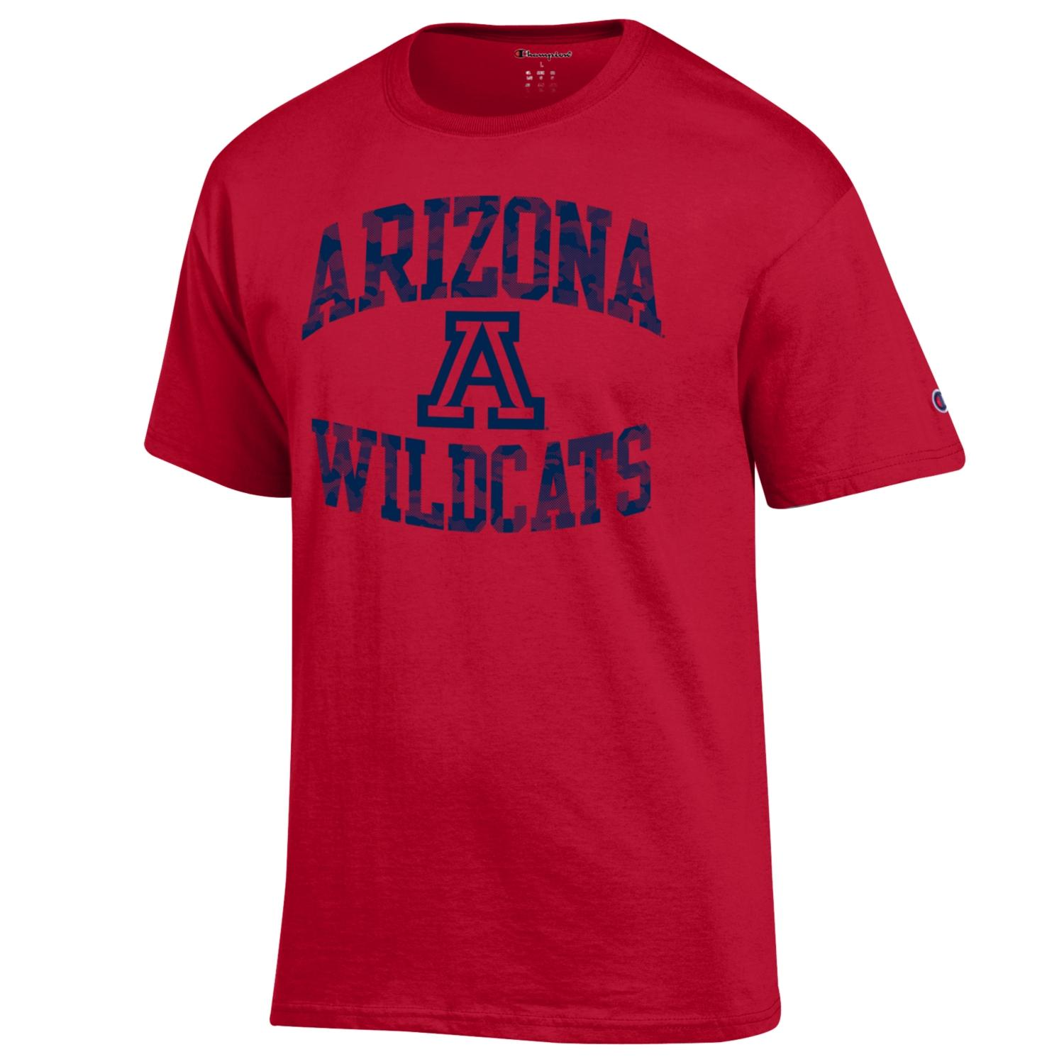 Image For Champion: Arizona Wildcats Camo Football Ticket Tee-Red