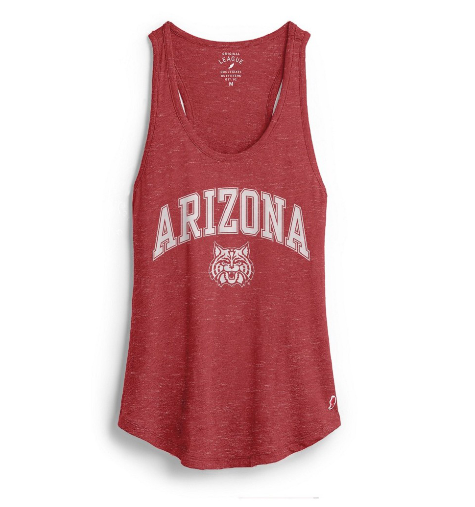 Image For League 91: Arizona Arch Wildcat Face Intramual Tank-Red