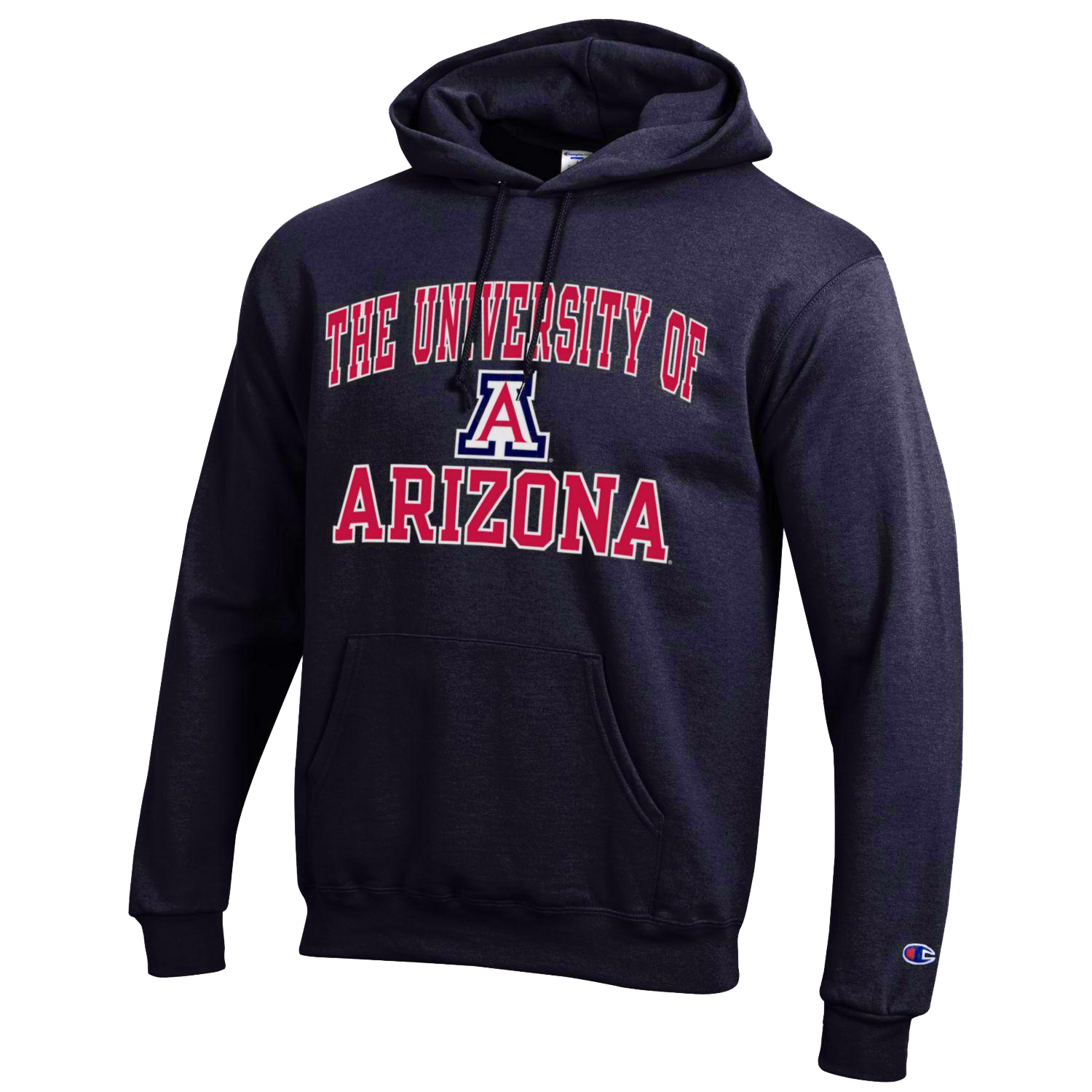 Image For Champion: University of Arizona Eco Powerblend Hoodie-Navy