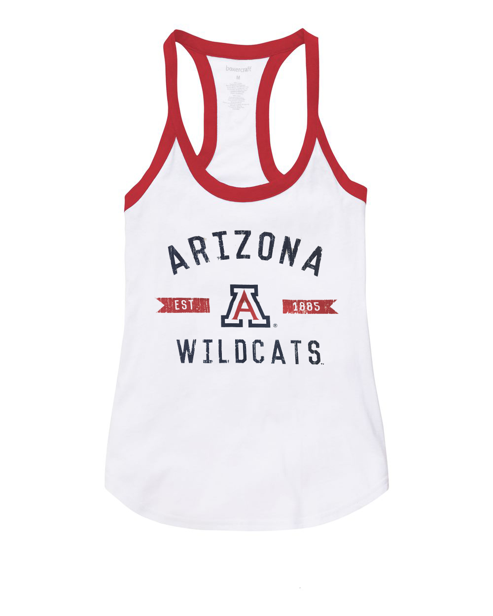 Image For Boxercraft: Arizona Est 1885 Wildcats Women's Ringer Tank