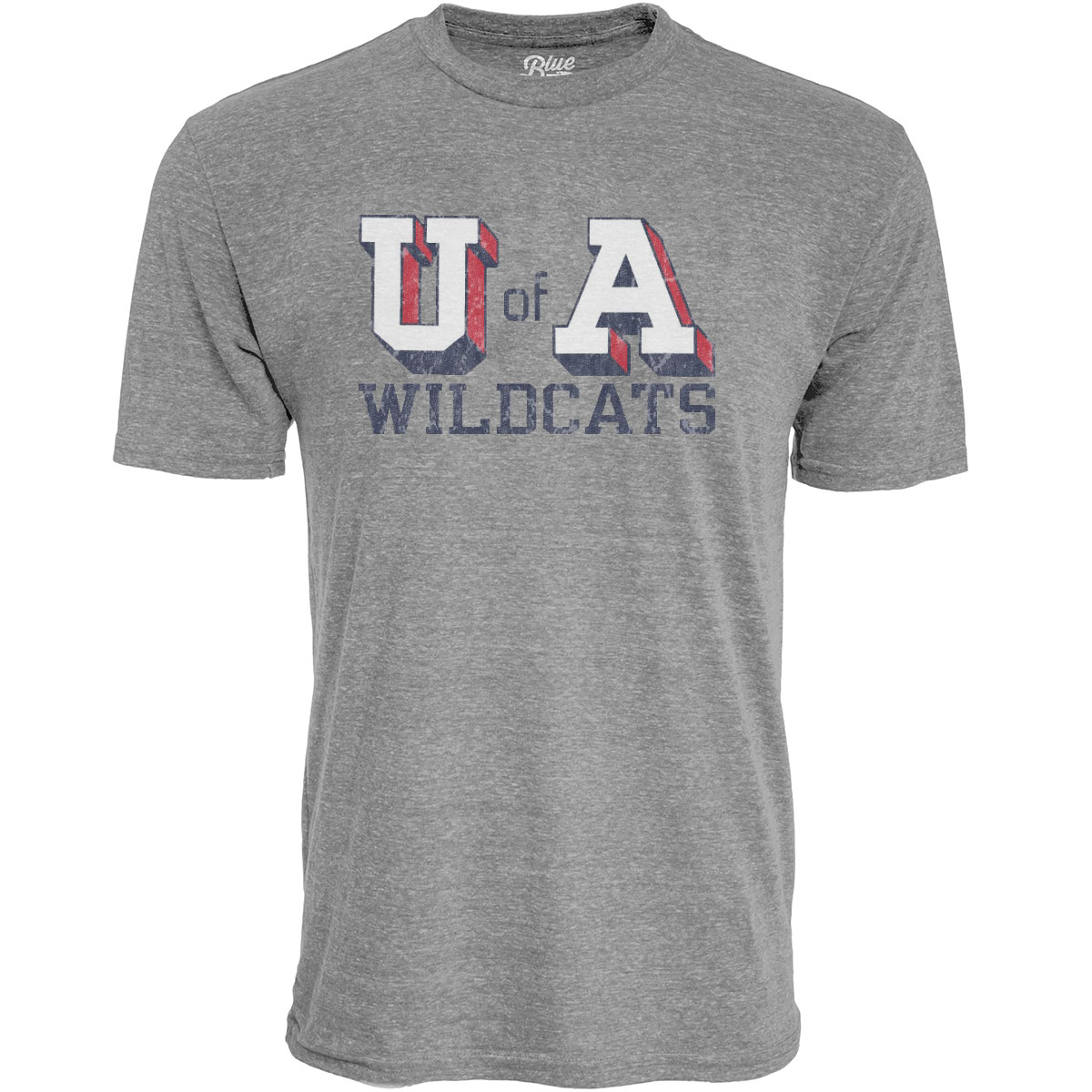 Cover Image For Blue 84: U of A Wildcats Tri-Blend Heather Grey