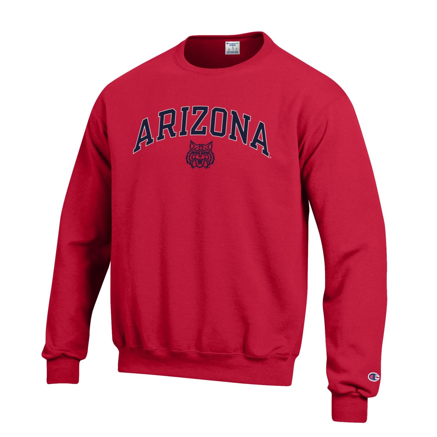 Image For Champion: Arizona Arch Wildcat Eco Powerblend Crew - Red