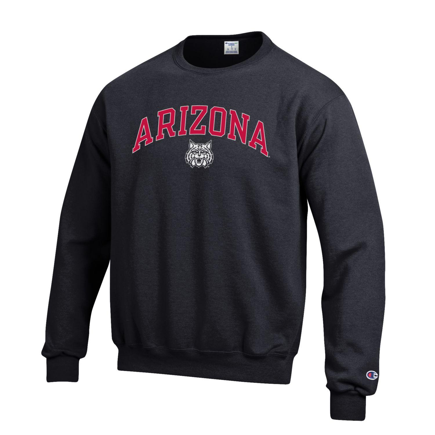 Image For Champion: Arizona Arch Wildcat Eco Powerblend Crew - Black