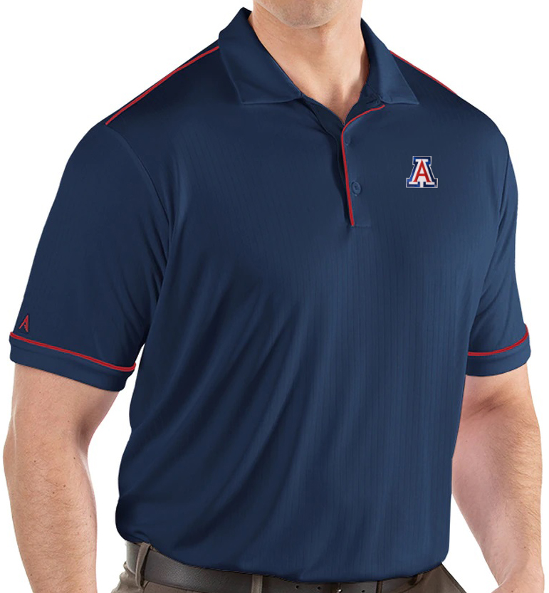 Image For Antigua: Arizona Men's Salute Polo - Navy / Red