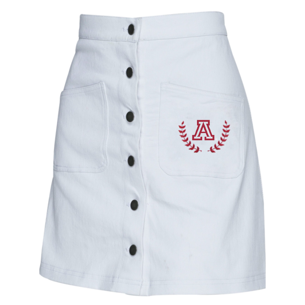 Image For Zoozatz: Arizona White Denim Skirt