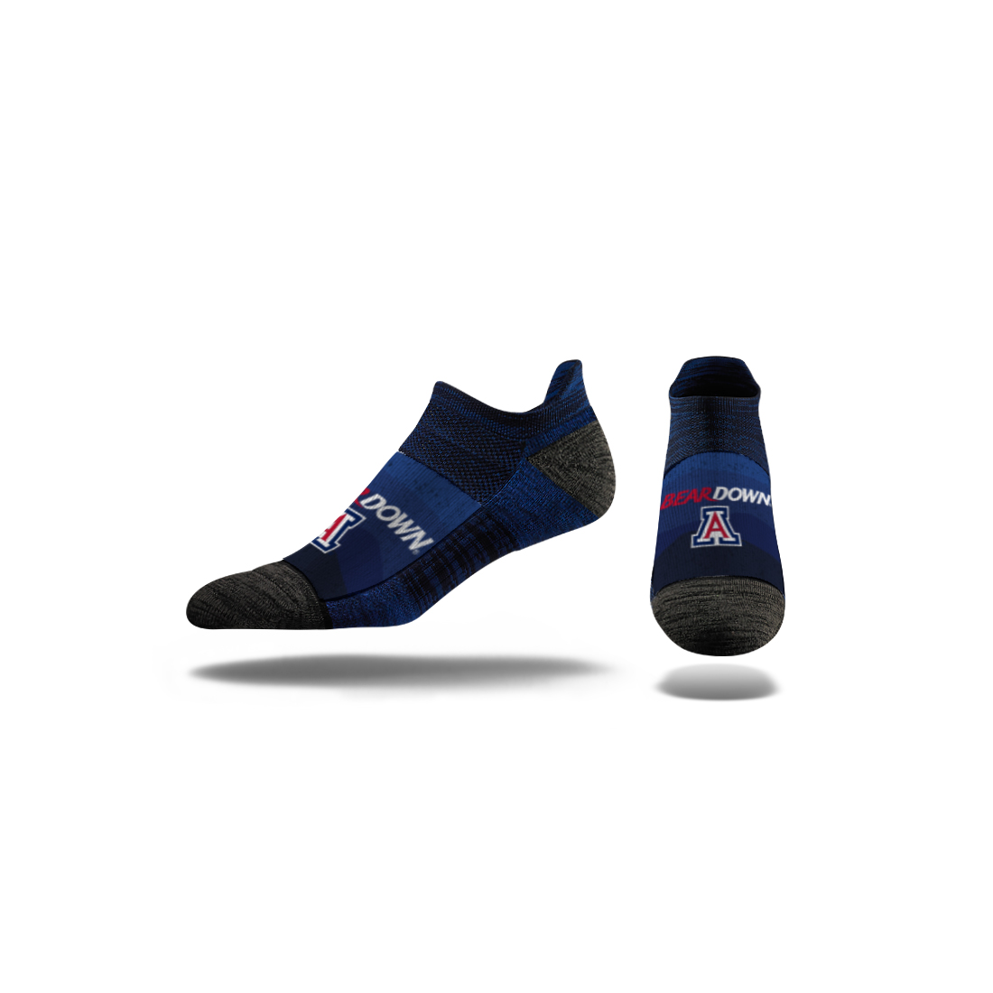 Image For Socks: Arizona BEAR DOWN Low Ankle By Strideline
