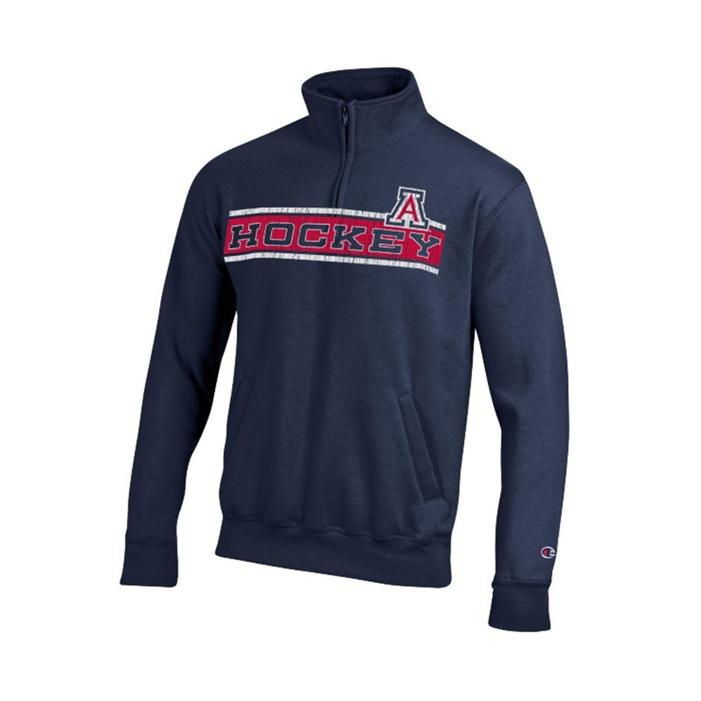 Image For Champion: Arizona HOCKEY ECO Powerblend Pocketless 1/4