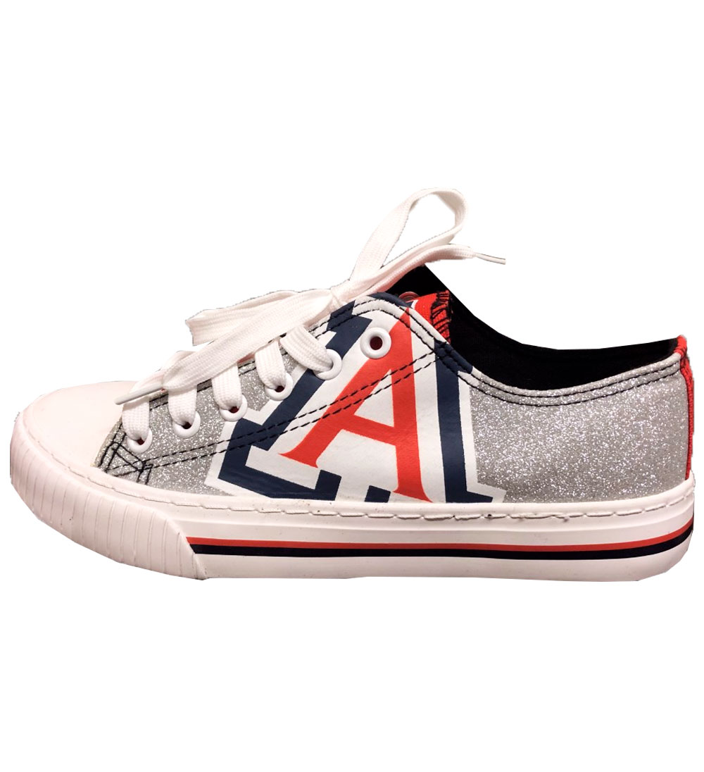 Image For FOCO: Arizona Women's Glitter Low Top Canvas Shoes