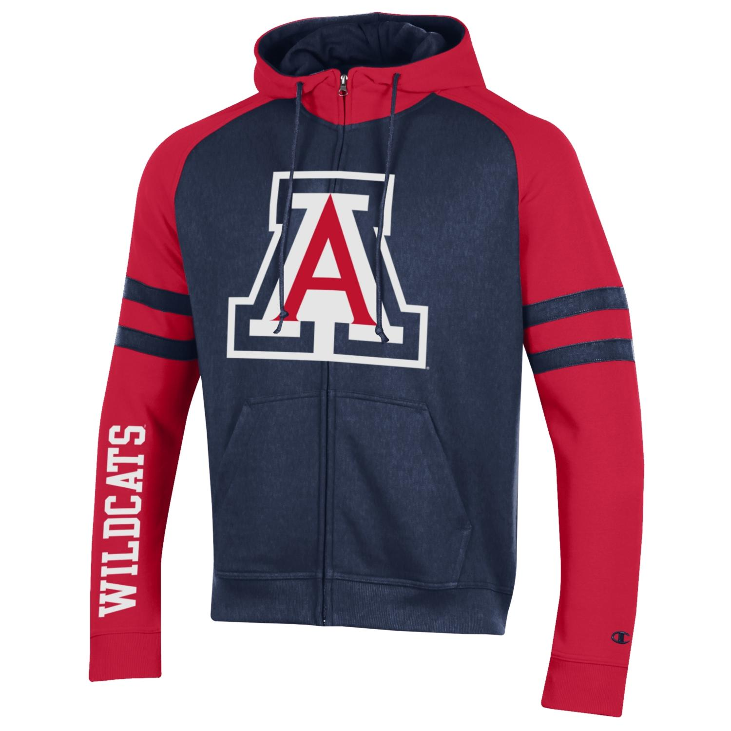 Image For Champion: Arizona Super Fan men's MTO Full Zip Hood