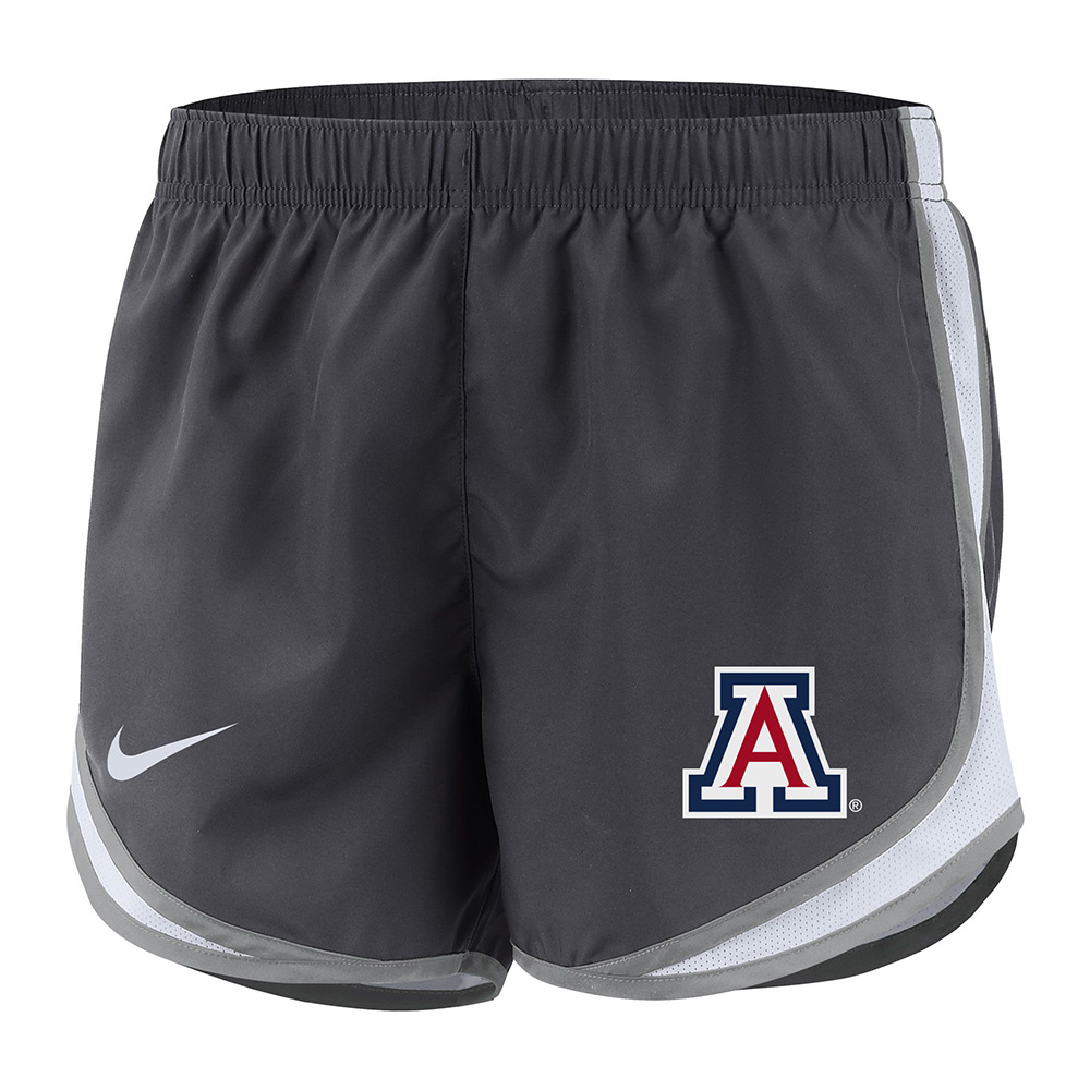 Image For Nike: Arizona Wildcats Women's Dri-FIT Tempo Shorts-Grey