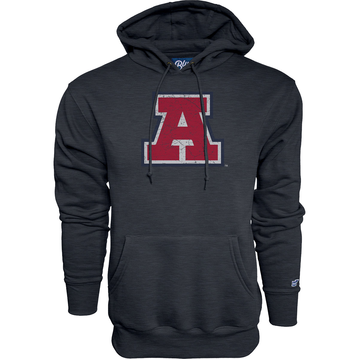 Image For Blue 84: Arizona Vault Vintage Block A Logo Hoodie -Midnight