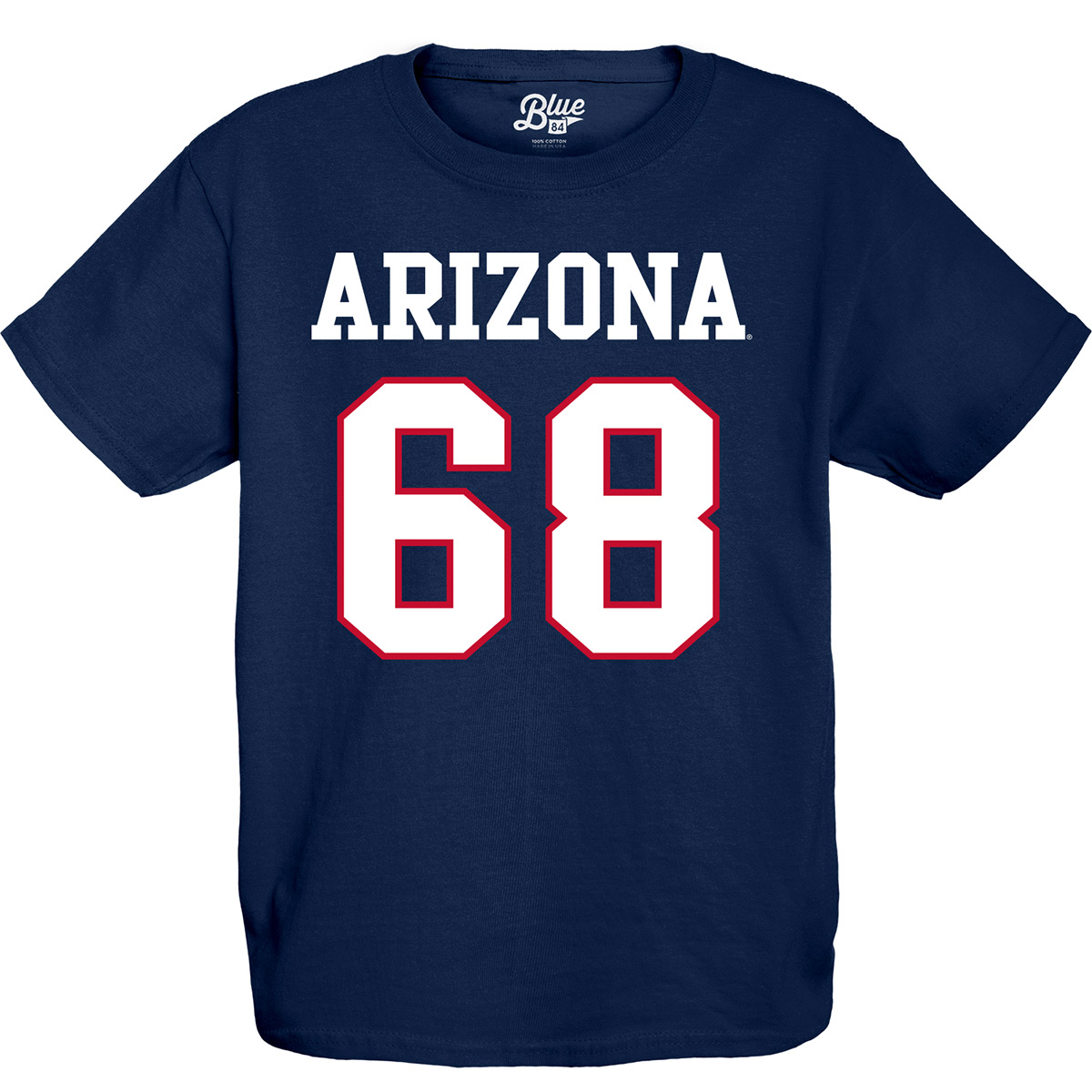 Image For Blue 84: Arizona BRUSCHI #68 Youth Tee - Navy