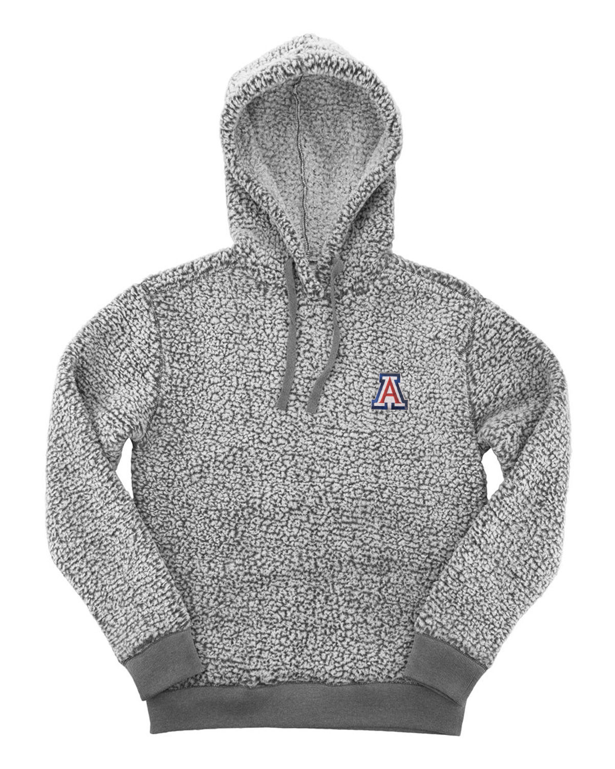 Image For Boxercraft: Arizona Sherpa Hoodie Pullover - Frosty Grey