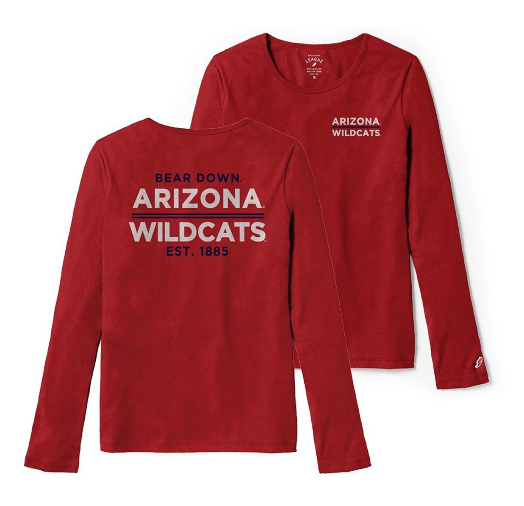Image For League 91: Arizona Wildcats Fresy Long Sleeve Tee - Red
