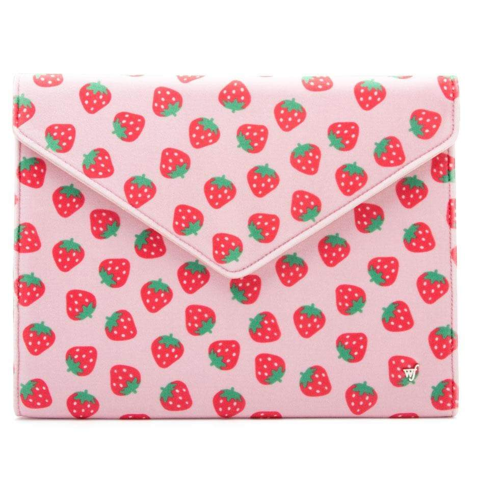 "Image For Wildflower Cases: Strawberry 13"" Laptop Clutch"