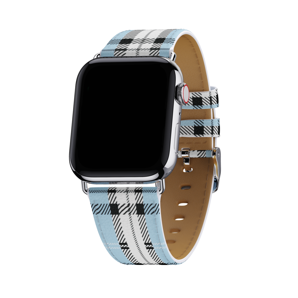 Image For Wildflower Cases: Blue Plaid Apple Watch Band 38/40MM