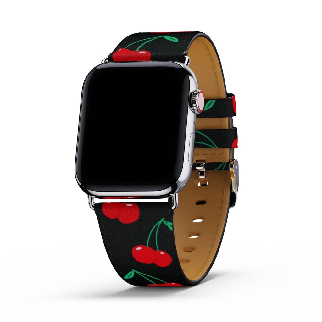 Image For Wildflower Cases: Black Cherries Apple Watch Band 38/40MM