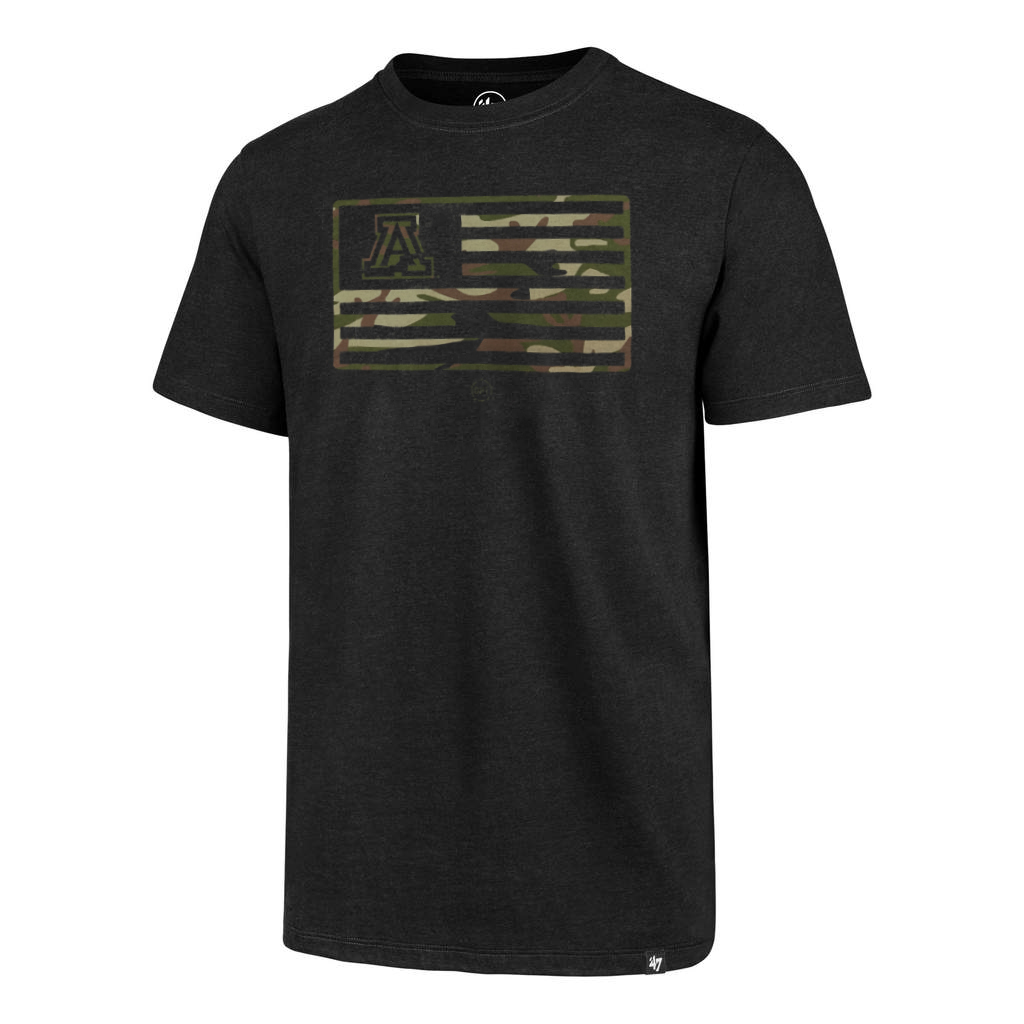Image For '47 Arizona Camo Flag Operation Hat Trick Tee - Jet Black