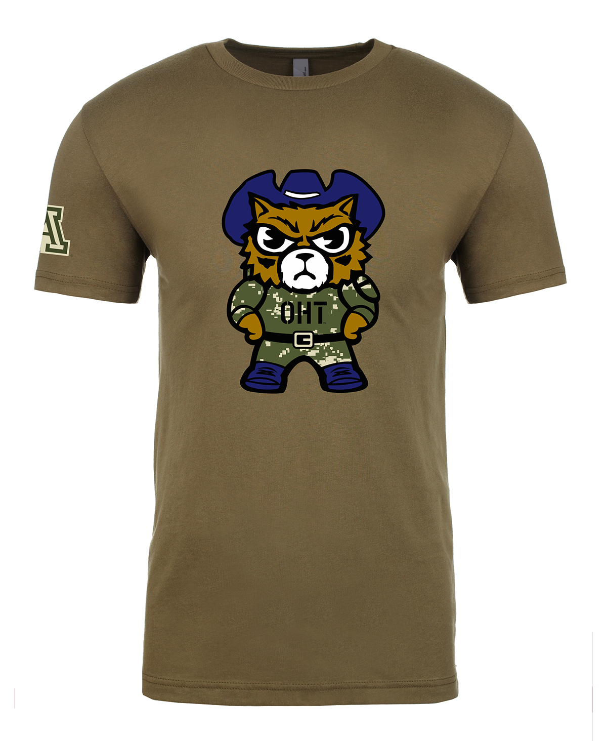 Image For Zephyr: Arizona Tokyodachi Operation Hat Trick Tee - Green