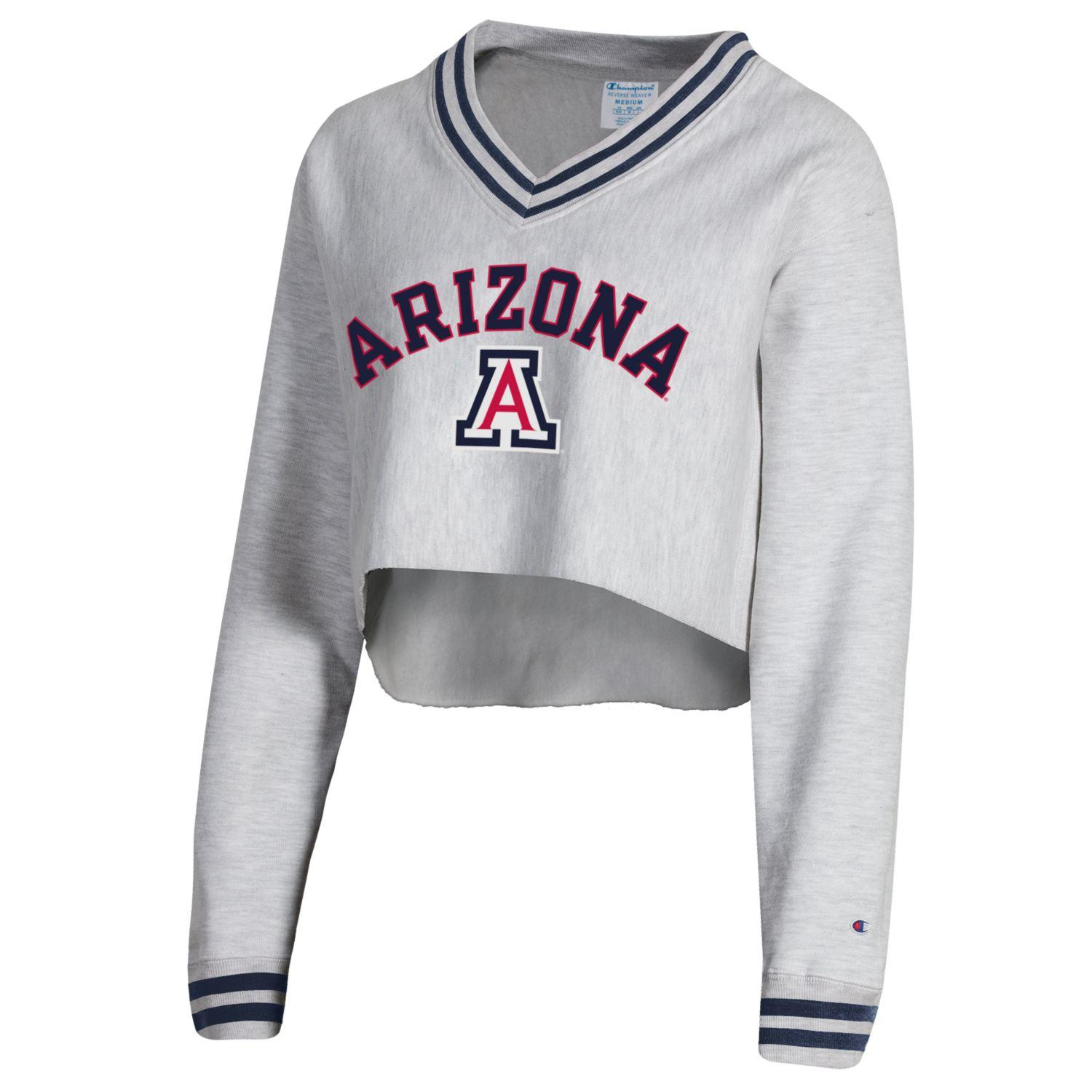 Image For Champion: Arizona Women's Reverse Weave Crop V-Neck