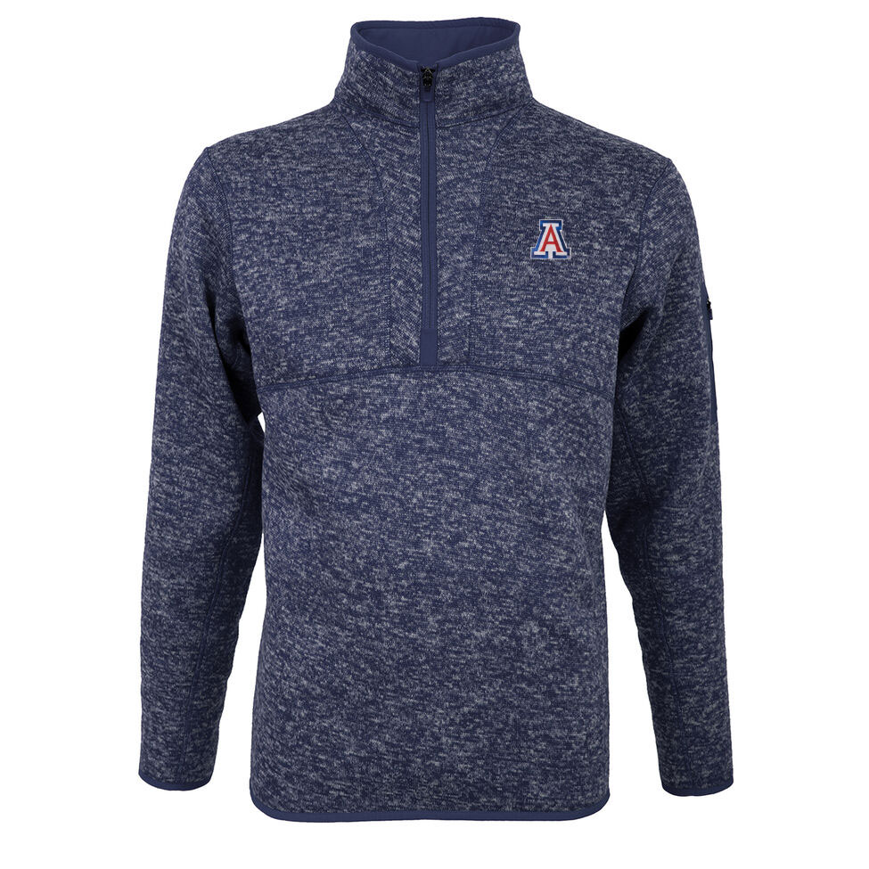 Cover Image For Antigua: Arizona Men's Fortune 1/2 Zip Pullover-Navy Heather