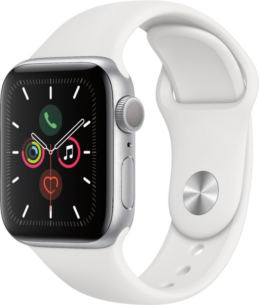 Image For Apple Watch Series 5 (GPS) 44mm Silver With Sport Band