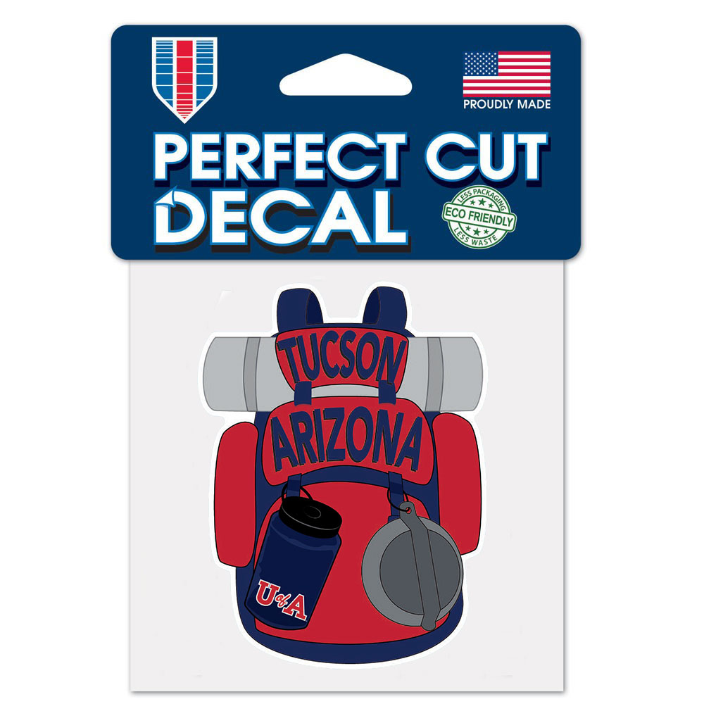 Image For Decal: Arizona Tucson U of A Camping Backpack