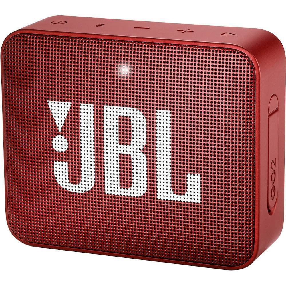 Image For JBL: GO 2 Portable Bluetooth Speaker - Red