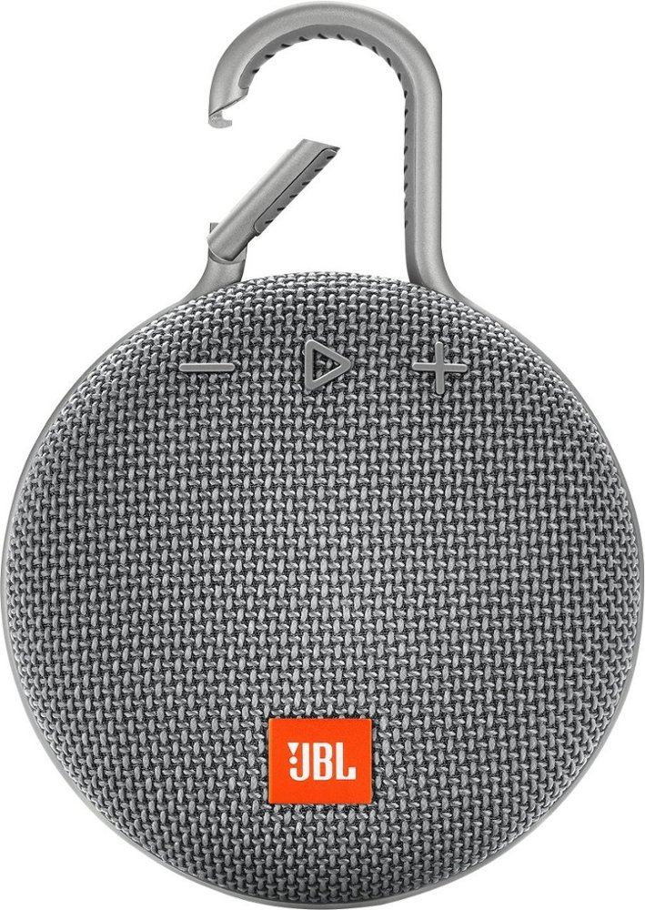 Image For JBL: Clip 3 Portable Bluetooth Speaker - Grey
