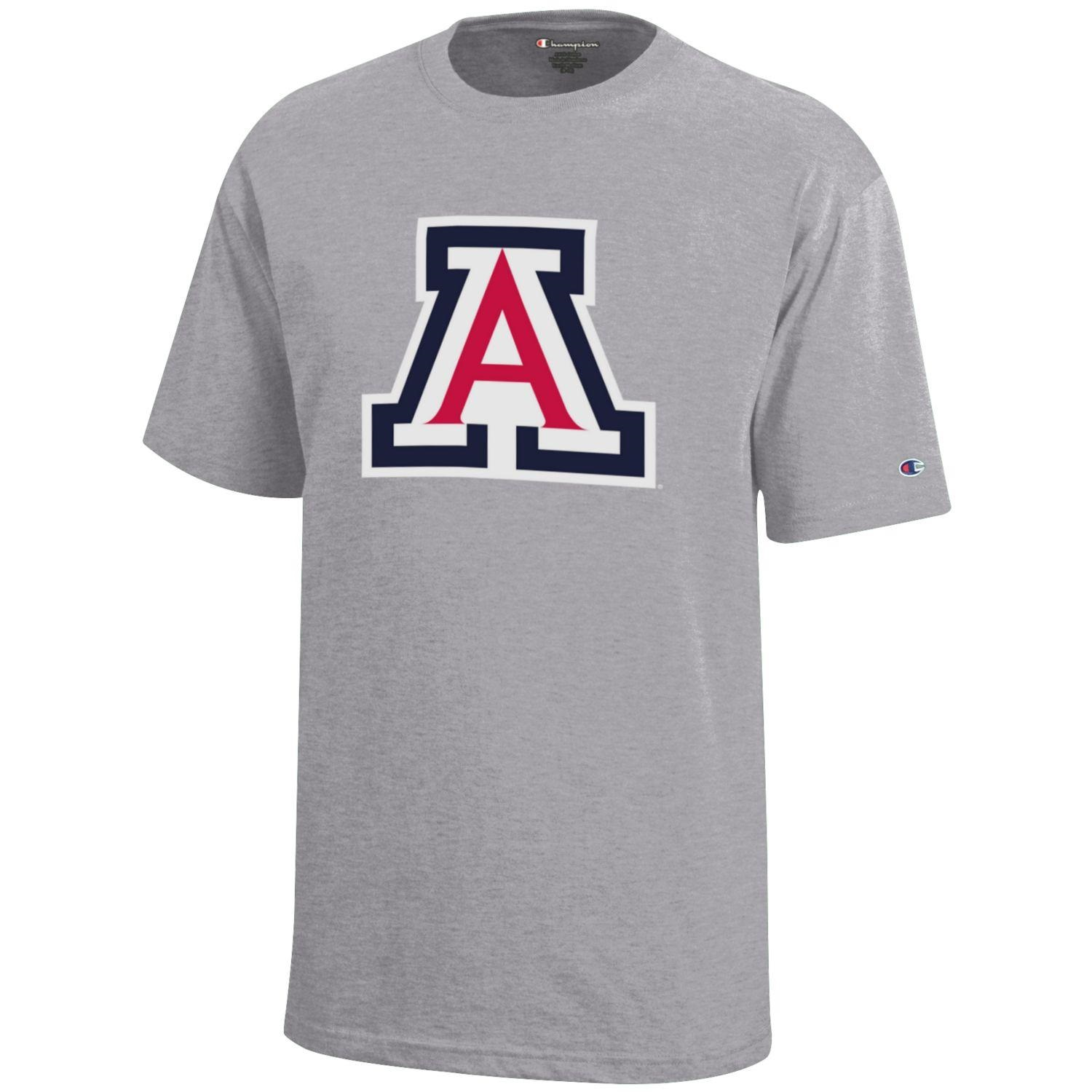 Image For Champion: Arizona Logo YOUTH Jersey Tee - Grey