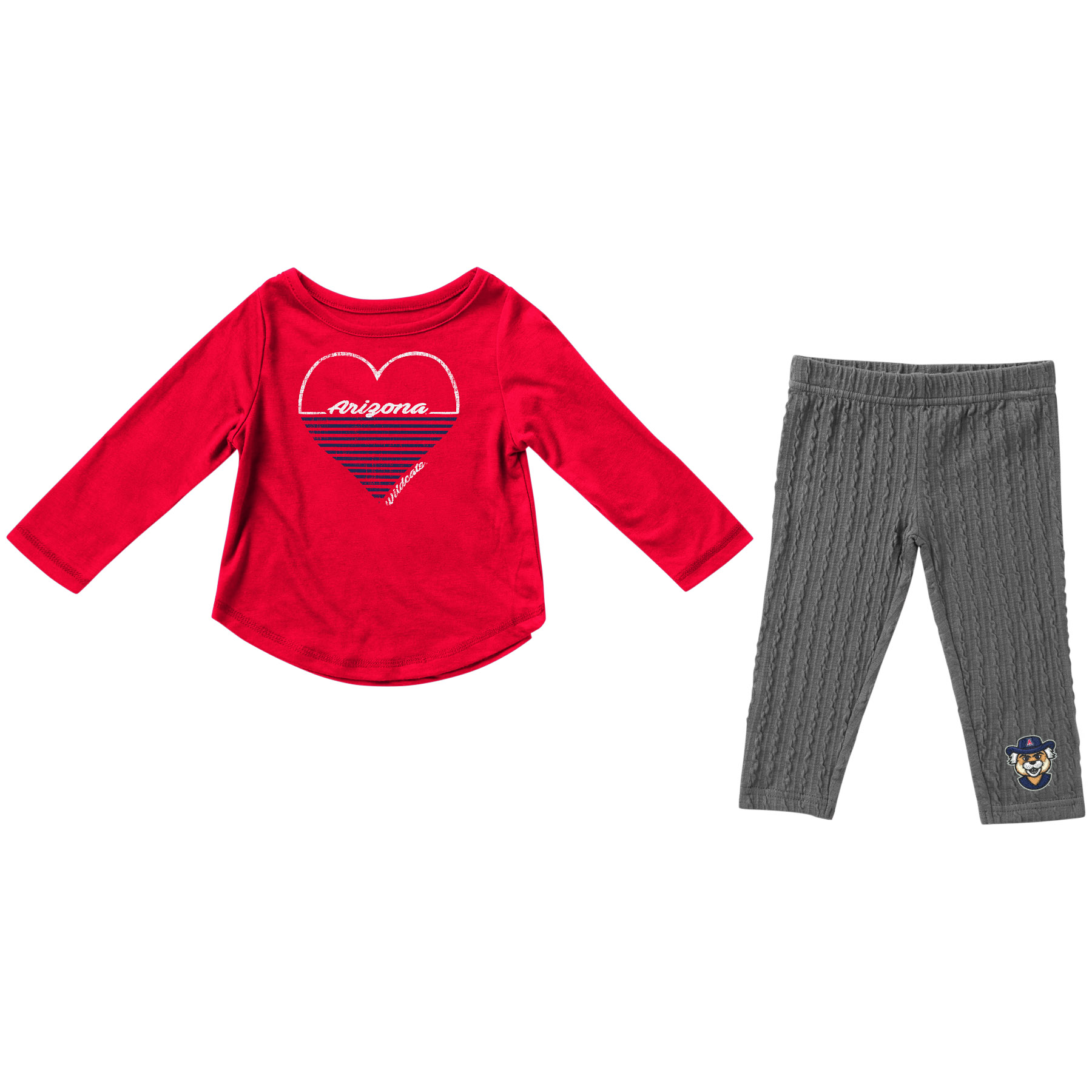 Image For Colosseum: Arizona Toddler Girls Sweetums Top and Bottom Set