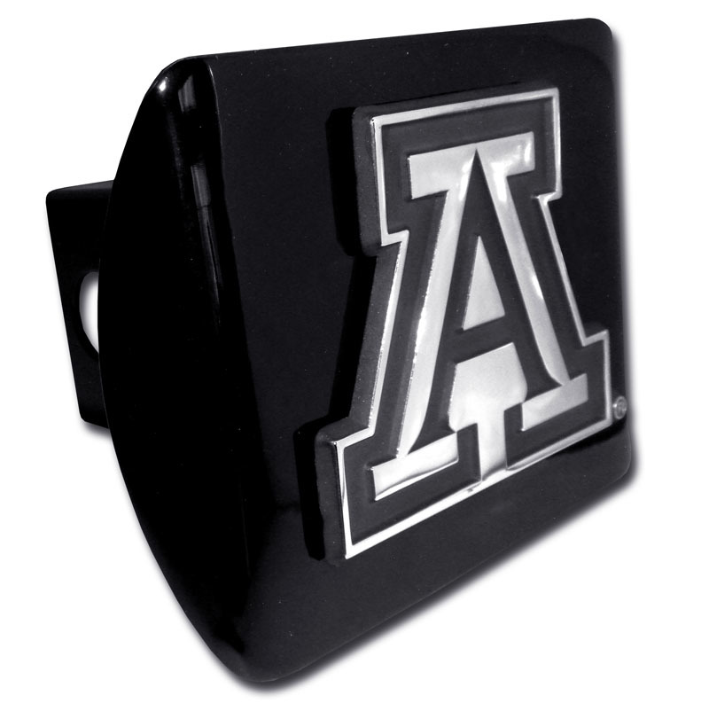 Image For University of Arizona A Emblem on Black Metal Hitch Cover