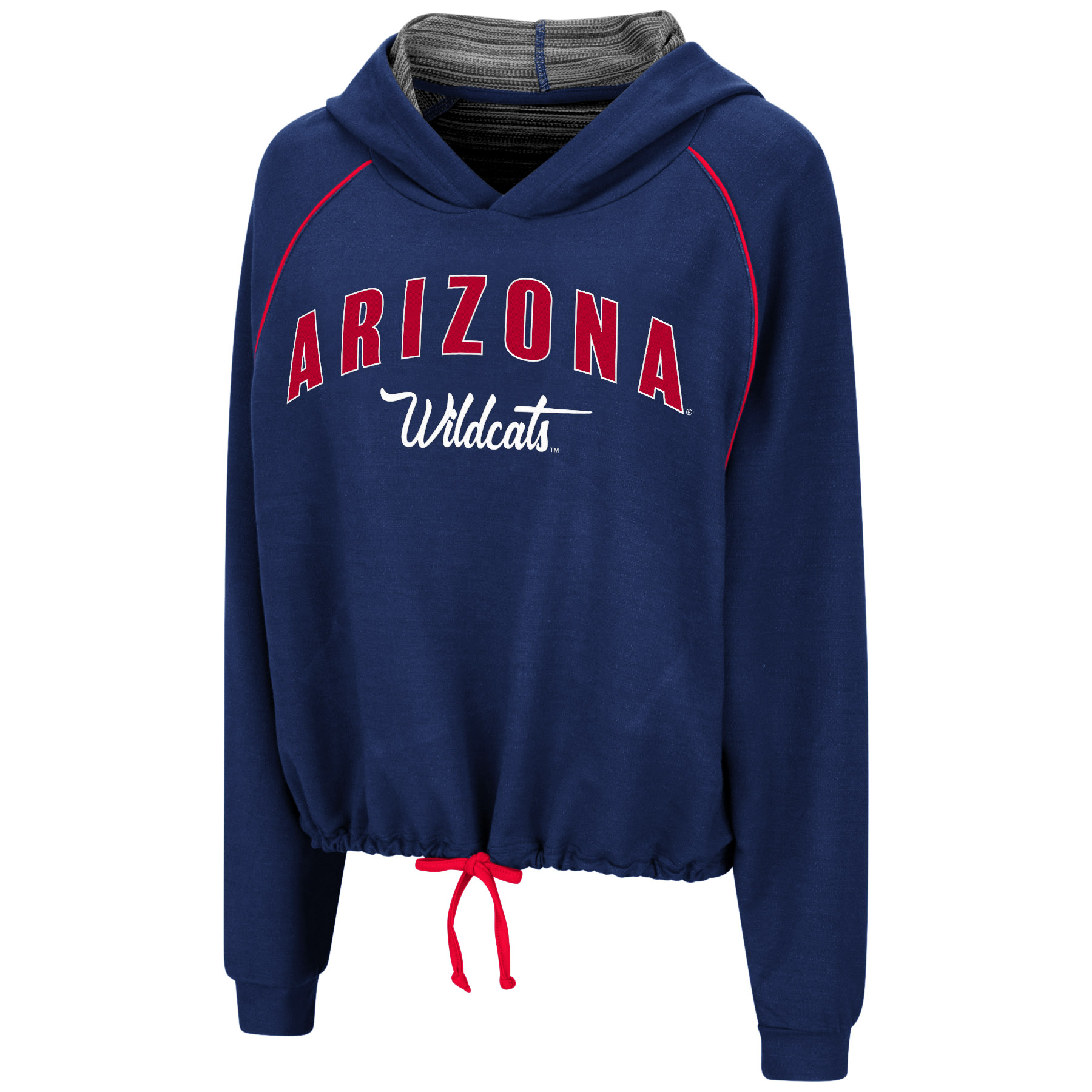 Image For Colosseum: Arizona Harvest Festival Tie Front Hoodie -Navy