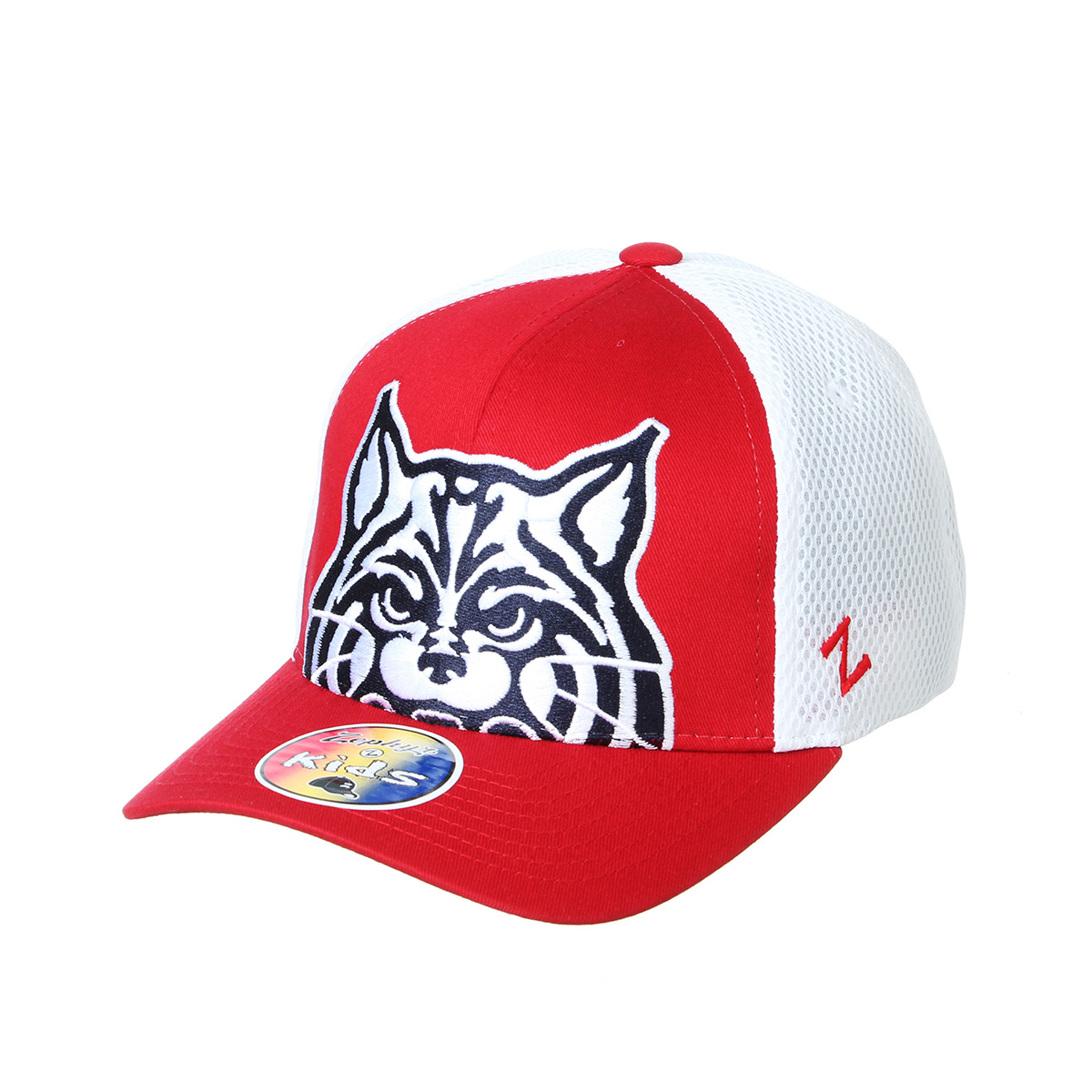 Image For Zephyr: Arizona Youth Crony Wildcat Cap -Red/White