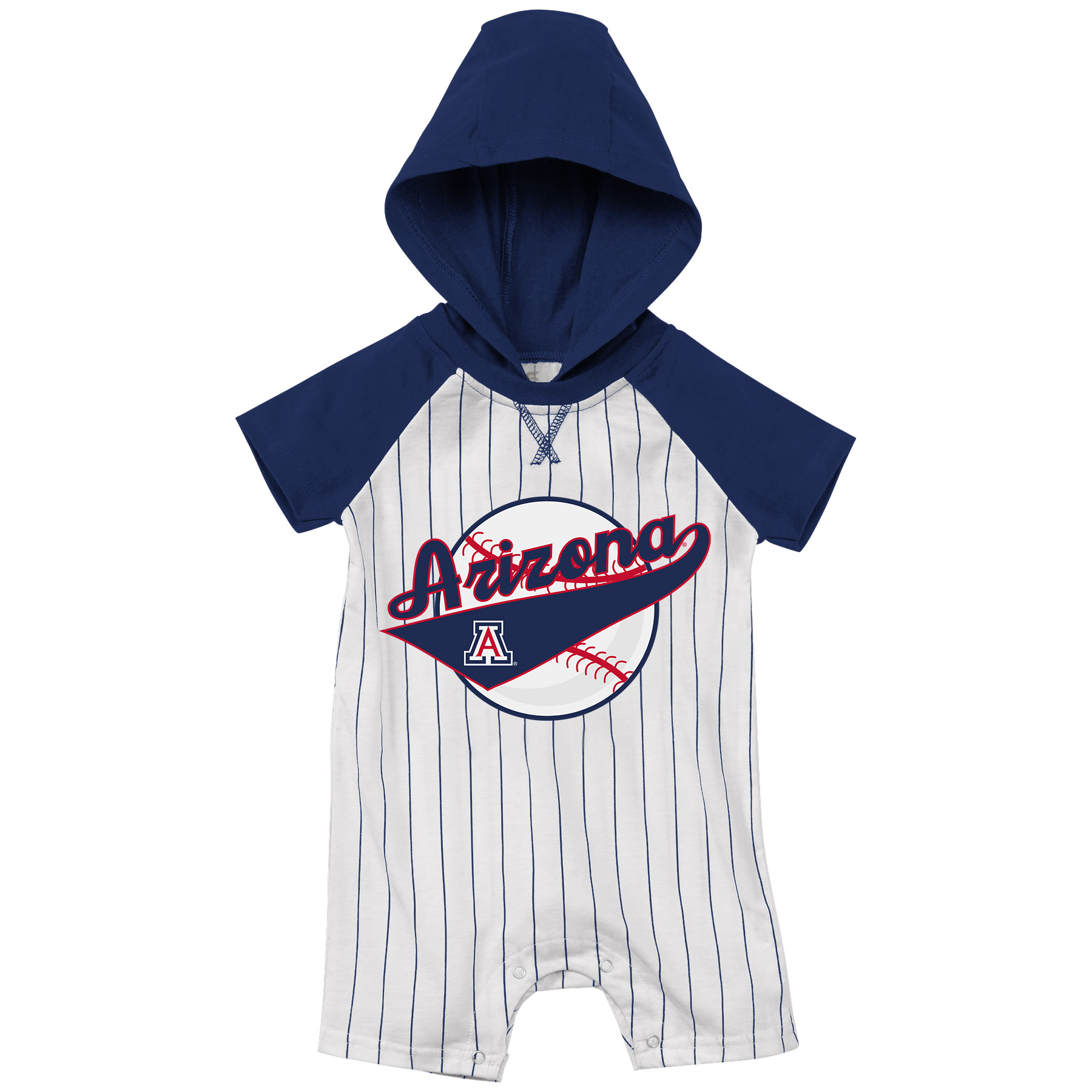 Image For Colosseum: Arizona Infant Boys Flinstone Romper Baseball