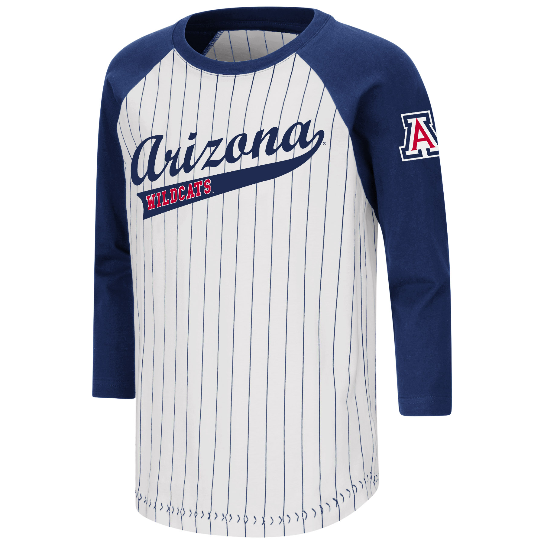 Image For Colosseum: Arizona Wildcats YOUTH Stone Age 3/4 Sleeve Tee