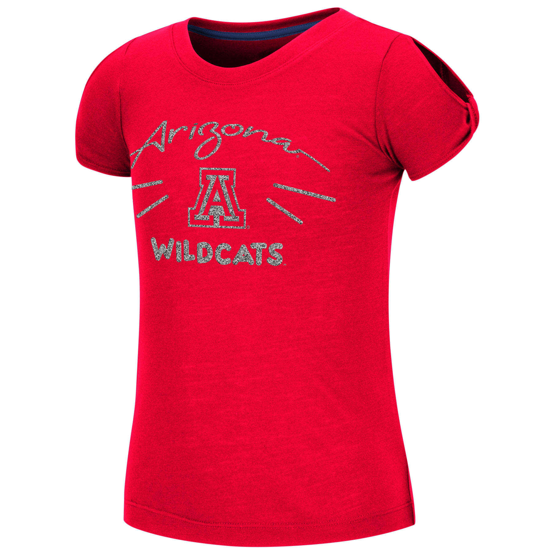 Image For Colosseum: Arizona Girls Youth Pebbles Tee - Red
