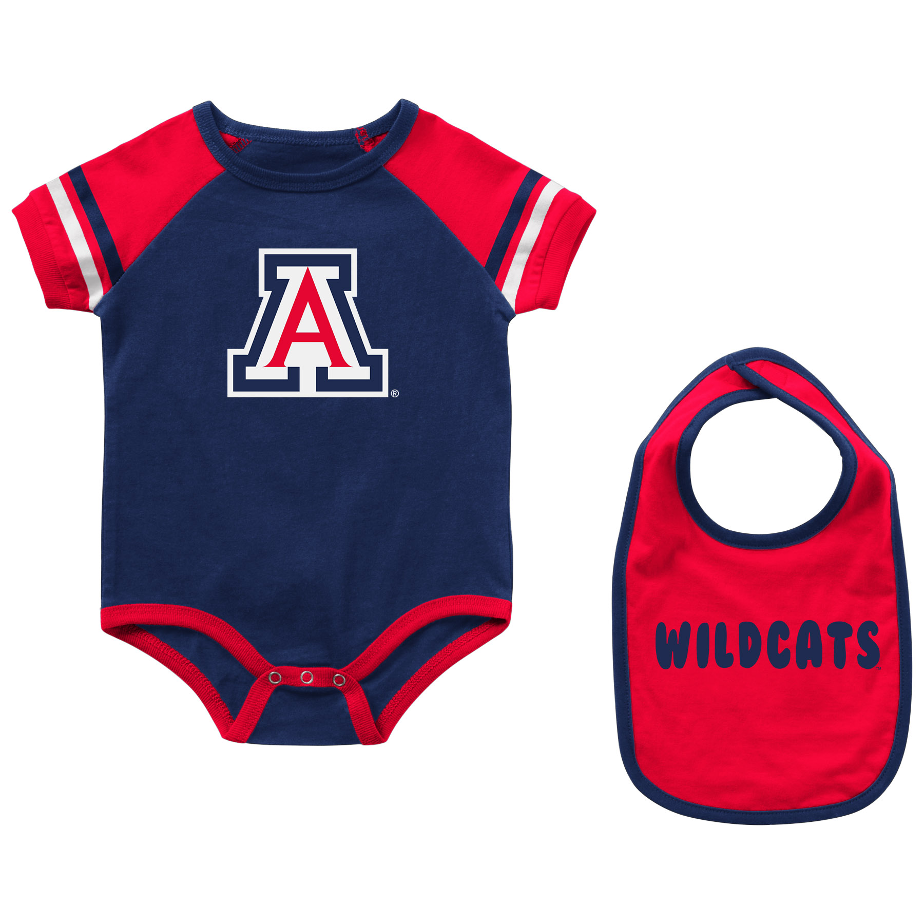 Image For Colosseum: Arizona Infant Warner Onsie Bib Set