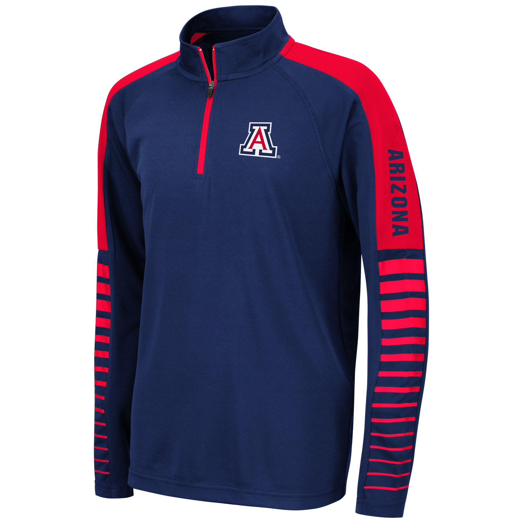 Image For Colosseum: Arizona Youth Rockzilla 1/4 Zip - Navy/Red
